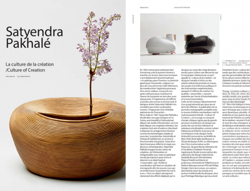 TL Magazine / N. 32 Autumn-Winter 2019 / Interview on monograph book Satyendra Pakhalé: Culture of Creation