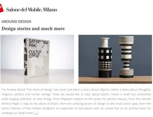Satyendra Pakhalé / Culture of Creation / Book review / iSaloni Magazine / Italy